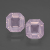 thumb image of 3.6ct Asscher Cut Pink Rose Quartz (ID: 394347)