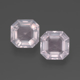 thumb image of 4.6ct Asscher Cut Pink Rose Quartz (ID: 394435)