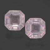 thumb image of 3.7ct Asscher Cut Pink Rose Quartz (ID: 394710)