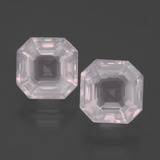 thumb image of 4.6ct Asscher Cut Pink Rose Quartz (ID: 395131)