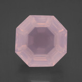 thumb image of 18ct Asscher Cut Pink Rose Quartz (ID: 397469)