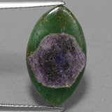 thumb image of 6.4ct Marquise Slice Bi-Color Ruby in Fuchsite (ID: 386411)