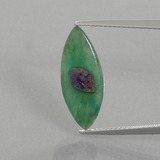 thumb image of 4ct Marquise Slice Bi-Color Ruby in Fuchsite (ID: 386502)