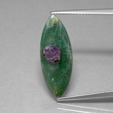thumb image of 4.1ct Marquise Slice Bi-Color Ruby in Fuchsite (ID: 386702)