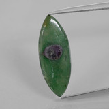 thumb image of 3ct Marquise Slice Bi-Color Ruby in Fuchsite (ID: 386753)