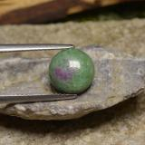 thumb image of 3ct Round Cabochon Multicolor Ruby-Zoisite (ID: 245530)