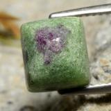 thumb image of 5.4ct Baguette Sugarloaf Cabochon Multicolor Ruby-Zoisite (ID: 299179)