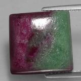 thumb image of 21ct Square Cabochon Multicolor Ruby-Zoisite (ID: 334922)