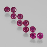 thumb image of 2.3ct Round Facet Pink Red Ruby (ID: 399344)