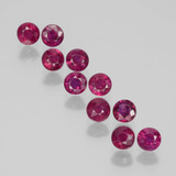 thumb image of 2.3ct Round Facet Pink Red Ruby (ID: 399345)