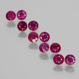 thumb image of 2.2ct Round Facet Pink Red Ruby (ID: 399350)