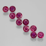 thumb image of 2.1ct Round Facet Pink Red Ruby (ID: 399353)