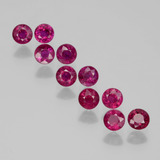 thumb image of 2.3ct Round Facet Pink Red Ruby (ID: 399366)
