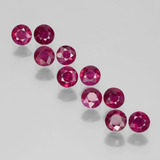 thumb image of 2.2ct Round Facet Pink Red Ruby (ID: 399371)
