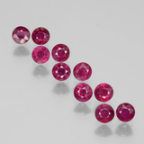 thumb image of 2.4ct Round Facet Pink Red Ruby (ID: 399374)