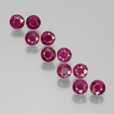 thumb image of 2.1ct Round Facet Pink Red Ruby (ID: 399375)