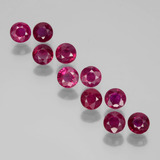 thumb image of 2ct Round Facet Pink Red Ruby (ID: 399376)
