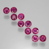 thumb image of 2.1ct Round Facet Pink Red Ruby (ID: 399402)