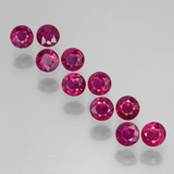 thumb image of 2.3ct Round Facet Pink Red Ruby (ID: 399403)