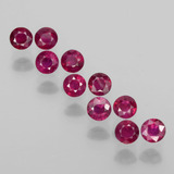 thumb image of 2.4ct Round Facet Pink Red Ruby (ID: 399404)