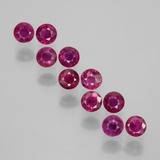 thumb image of 2.3ct Round Facet Pink Red Ruby (ID: 399406)