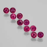 thumb image of 2.5ct Round Facet Pink Red Ruby (ID: 399407)