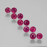 thumb image of 2.7ct Round Facet Pink Red Ruby (ID: 399408)