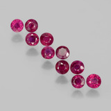 thumb image of 2.4ct Round Facet Pink Red Ruby (ID: 399409)