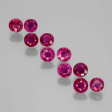 thumb image of 2.3ct Round Facet Pink Red Ruby (ID: 399410)