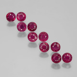 thumb image of 2.3ct Round Facet Pink Red Ruby (ID: 399411)