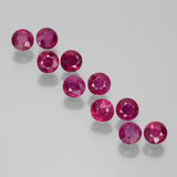 thumb image of 2.1ct Round Facet Pink Red Ruby (ID: 399412)