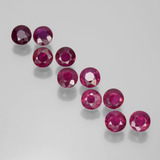 thumb image of 2.2ct Round Facet Pink Red Ruby (ID: 399413)