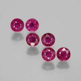 thumb image of 1.7ct Round Facet Pink Red Ruby (ID: 399427)