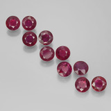 thumb image of 2.1ct Round Facet Pink Red Ruby (ID: 399441)