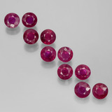 thumb image of 2.7ct Round Facet Pink Red Ruby (ID: 399442)