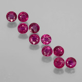 thumb image of 2.4ct Round Facet Pink Red Ruby (ID: 399443)