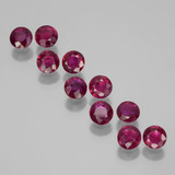 thumb image of 2ct Round Facet Pink Red Ruby (ID: 399444)
