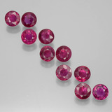 thumb image of 2.5ct Round Facet Pink Red Ruby (ID: 399445)