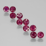 thumb image of 2.9ct Round Facet Pink Red Ruby (ID: 399448)