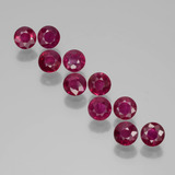 thumb image of 2.3ct Round Facet Pink Red Ruby (ID: 399449)