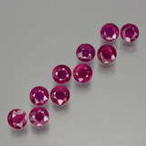 thumb image of 2.5ct Round Facet Pink Red Ruby (ID: 399484)