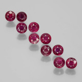 thumb image of 2.7ct Round Facet Pink Red Ruby (ID: 399501)