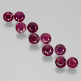 thumb image of 2.7ct Round Facet Pink Red Ruby (ID: 399505)