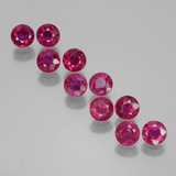 thumb image of 2.6ct Round Facet Pink Red Ruby (ID: 399507)