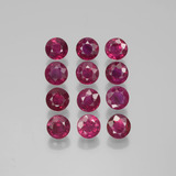 thumb image of 3.4ct Round Facet Pink Red Ruby (ID: 399512)