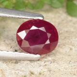 thumb image of 1ct Oval Facet Pink Red Ruby (ID: 402267)