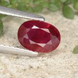 thumb image of 1.1ct Oval Facet Pink Red Ruby (ID: 402464)