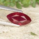 thumb image of 1.2ct Marquise Facet Pink Red Ruby (ID: 402475)