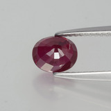 1.51 ct Oval Facet Pink Red Ruby Gem 6.76 mm x 5.6 mm (Photo C)