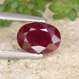 thumb image of 1.1ct Oval Facet Pink Red Ruby (ID: 402653)